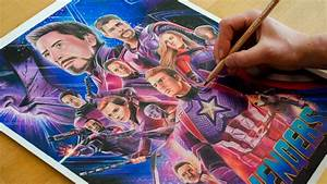 Drawing Avengers Endgame  2019  - Nimauke