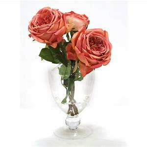Rose In Glas : mauve roses in clear glass urnwith ball stem free shipping in usa 1001shops ~ Frokenaadalensverden.com Haus und Dekorationen