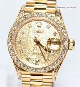 Rolex Uhr Herren Gold : rolex datejust 18kt gold diamant zifferblatt 69158 papiere box 1991 ~ Frokenaadalensverden.com Haus und Dekorationen