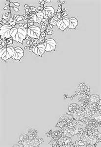 Japanese Flower Line Drawing