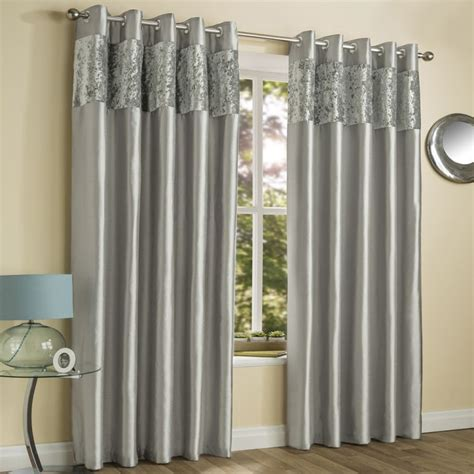 amalfi silver crushed velvet eyelet curtains
