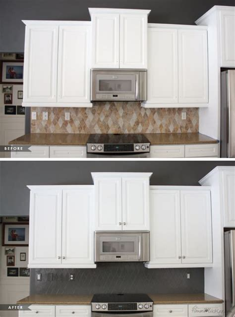 changing tiles in kitchen paint tile backsplash for an big inexpensive change 5231
