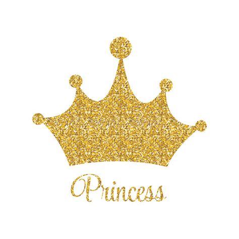 principessa golden glossy background con l illustrazione di vettore della corona illustrazione
