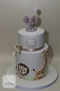 Animal Theme Boy Baby Shower Cake - CakeCentral com