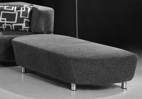 grey microfiber convertible sectional sofa bed wottoman bench