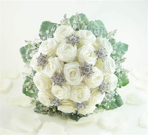 Ice Crystal Wedding Bouquet Bridal Bouquet Winter