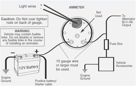 Typical Alternator With Amp Meter Wiring Diagram Decor