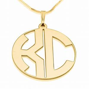 2 letters gold plated print initial monogram necklace closed With 2 letter monogram necklace