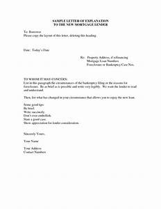 letter of explanation sample writing professional letters With sample letter of explanation for cash out refinance