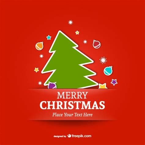 merry christmas templates vector merry christmas template with tree vector free download