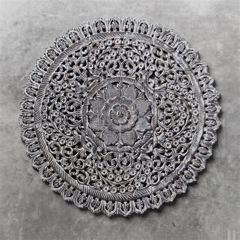 buy mandala wood carving wall panel decor mandala wall