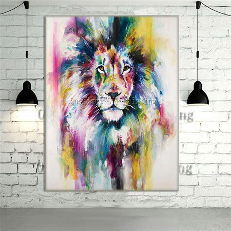 pas cher new peint 224 la moderne couleur animaux image de peinture 224 l huile sur mur de