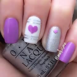 Purple nail art ideas jewe
