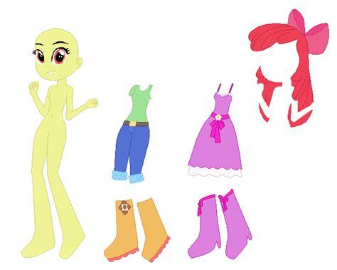 Equestria Girls Apple Bloom Base Vr. 2 By Selenaede On