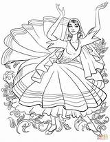 Coloring Dancing Tatar Pages Supercoloring Printable Elegant Drawing Graceful Russia Categories sketch template