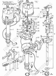 Pinto Ohc Engines Parts List  B7 41 - Distributor  Motocraft