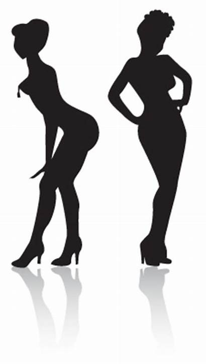 Burlesque Clipart Retro Silhouette Clip Logos Pinup
