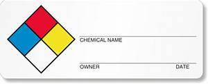 sds labels preprinted and custom msds With chemical label template