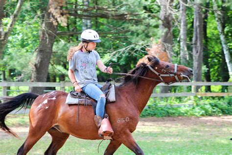 riding horseback camp lake lincoln hubert lakehubert