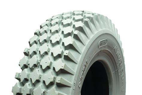 410/350 X 5 Heavy Block Pattern Grey Solid Tyre For