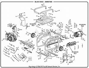 Homelite Bm907000a 7000 Watt Generator Parts Diagram For