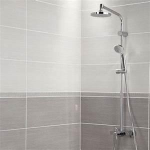 carrelage mural chloe premium en faience blanc 24 x 69 With couleur de peinture pour toilette 4 bricolage realisationsdejeanne