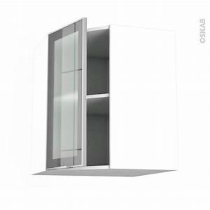Meuble Haut Cuisine Vitré : meuble de cuisine angle haut vitr fa ade alu 1 porte n 19 l40 cm l65 x h70 x p37 cm sokleo oskab ~ Teatrodelosmanantiales.com Idées de Décoration