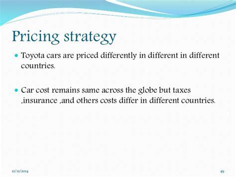 Toyota Marketing Strategy by Toyota On International Marketing