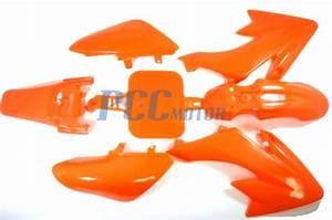 Orange Plastic Fender Kit Xr50 Crf50 Pit Dirt Bike Coolster 125cc Ps31