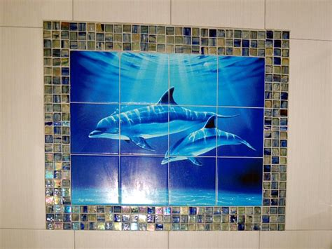 bathroom tile images ideas dolphin and whale bathroom tile ideas dolphin dive
