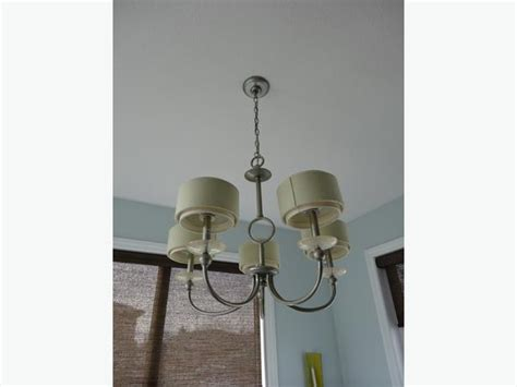 set of dining room chandelier and three matching pendant