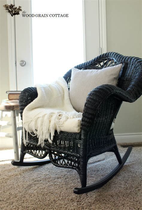 wicker rocking chair ideas  pinterest rattan