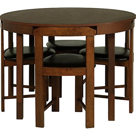 homebase kitchen furniture hygena alena wood stain circular dining table and 4 chairs