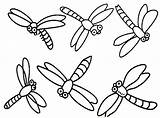 Dragonfly Coloring Pages Dragonflies Printable Cartoon Drawing Simple Dragon Cute Flies Clipart Print Colouring Cliparts Clip Fly Drawings Realistic Insect sketch template