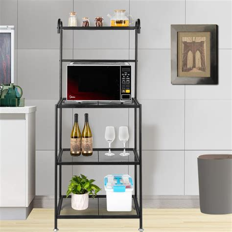 zimtown  tier kitchen bakers rack microwave oven stand