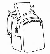 Backpack Coloring Highly Detailed Backpacks Kindergarten sketch template