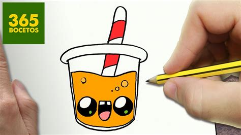 como dibujar zumo de naranja kawaii paso a paso dibujos kawaii faciles draw a orange juice