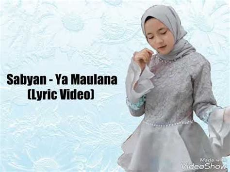 Sabyan  Ya Maulana (lirik Video Lagu) Youtube
