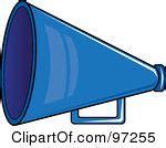 Blue Cheer Megaphone Clipart Royalty Free Rf Illustration Blue Cheer Megaphone Clipart Clipart Panda Free