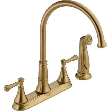 Delta Cassidy 2handle Standard Kitchen Faucet With Side