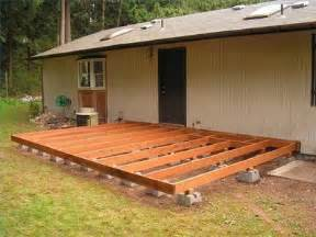 spacious build floating wood deck walls backyard