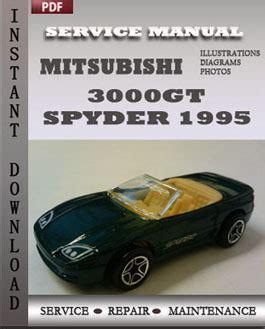 car service manuals pdf 1995 mitsubishi gto electronic throttle control mitsubishi 3000gt spyder 1995 service repair manual repair service manual pdf