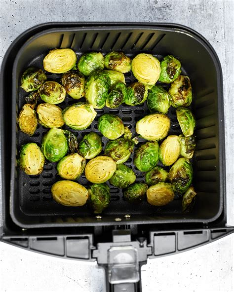 sprouts brussels fryer air balsamic honey