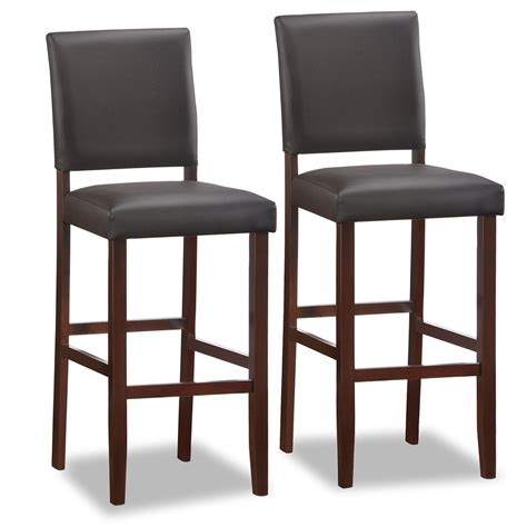 Counter Height Chairs With Backs by Furniture Wooden Stool With Back And Brown Wooden