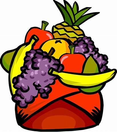 Fruit Clipart Hat Headdress Bowl Penguin Icon