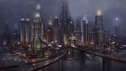 Gotham Batman Arkham Knight Concept Background 4k