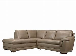 Garrison 2 pc leather sectional sofa taupe raymour for Garrison 2 pc leather sectional sofa reviews