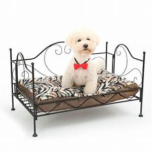 Domestic delivery luxurious pet bed metal frame bed for for Bed frame with dog kennel