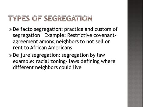 de facto segregation example