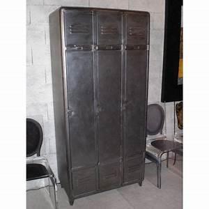 Armoire Metallique Pour Chambre : vestiaire industriel m tal achat vente armoire de ~ Edinachiropracticcenter.com Idées de Décoration